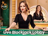 Live blackjack lobby